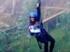 Carly zip lining with Danielle's Tennies